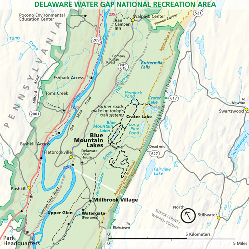 Blue Mountain Lakes in the Delaware Water Gap National Recreation Area